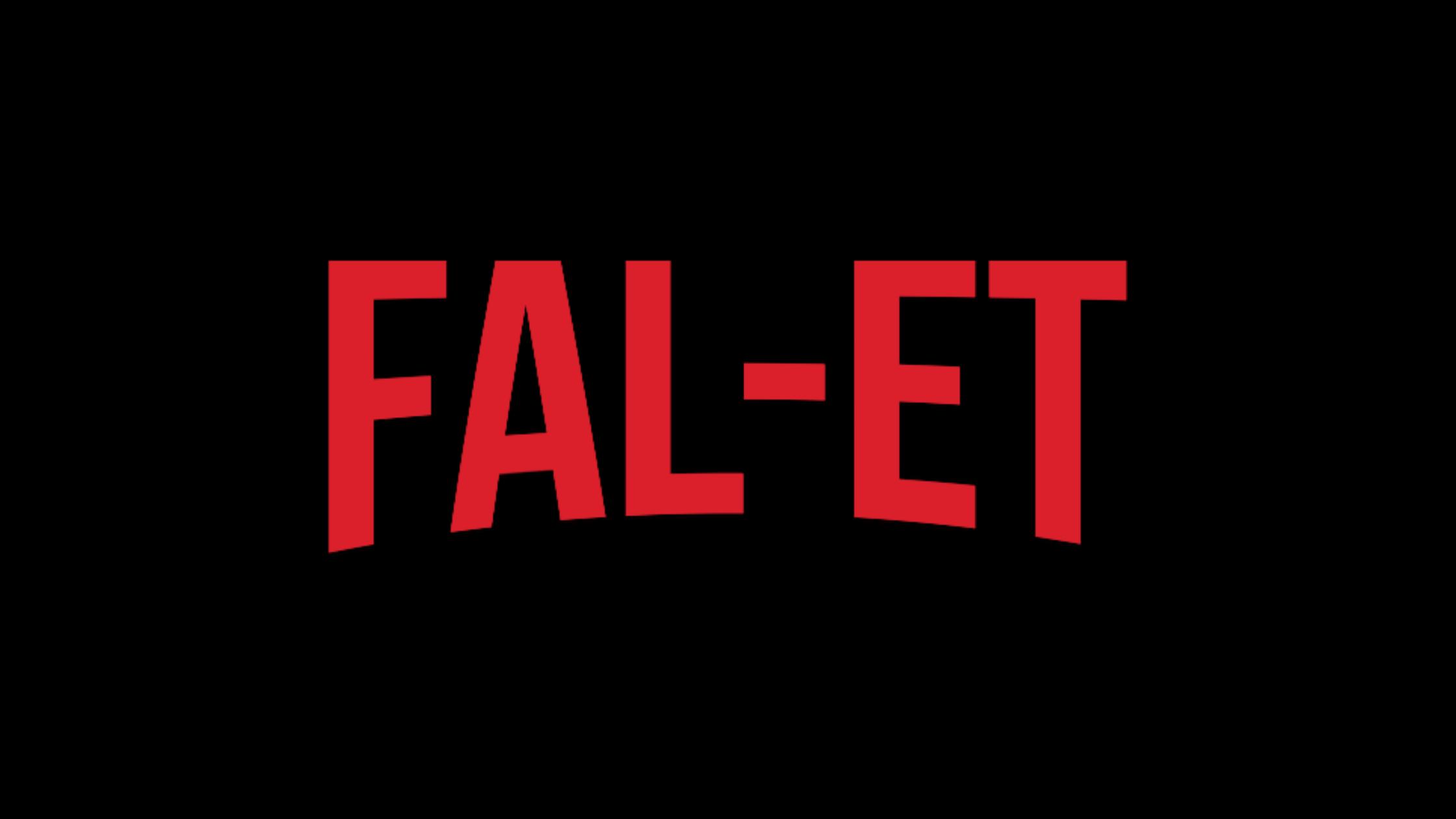 Text shows the pronunciation of 'Fallet': fal-et