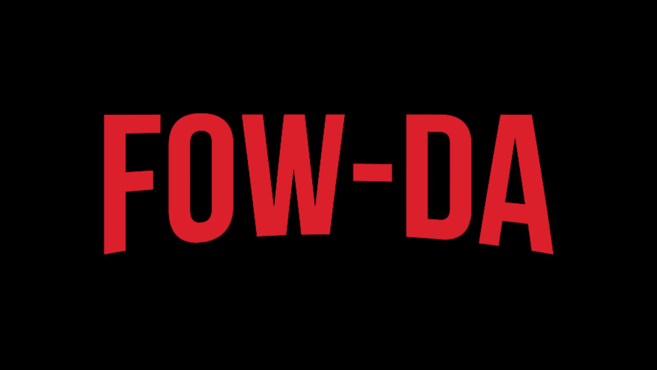 Text shows the pronunciation of 'Fauda': fow-da